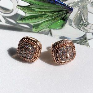 Jewelry - 14K Rose Gold Diamonds Earrings